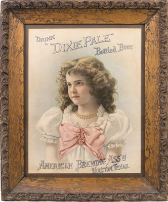 Dixie Pale American Brewing Houston Lithograph Sign