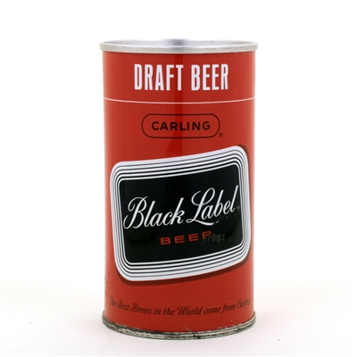 Black Label Draft Beer Early Pull Ring Can