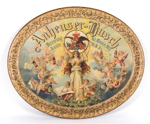 Anheuser-Busch Brewing Cherubs Pre-prohibition Beer Tray
