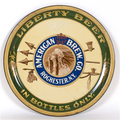 American Brewing Native American Arrows Liberty Beer Tray