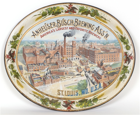 Anheuser-Busch Brewing Factory Scene Pre-prohibition Tray