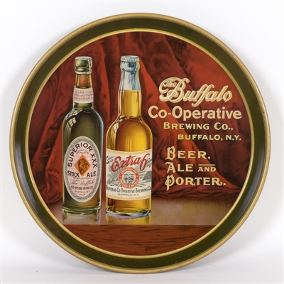 Buffalo Co-Operative Beer Ale Porter Bottles Tray