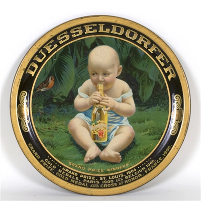Dusseldorfer Baby w Beer Bottle Indianapolis Brewing Tray