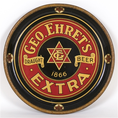 Geo. Ehrets Extra Draught Beer Tray