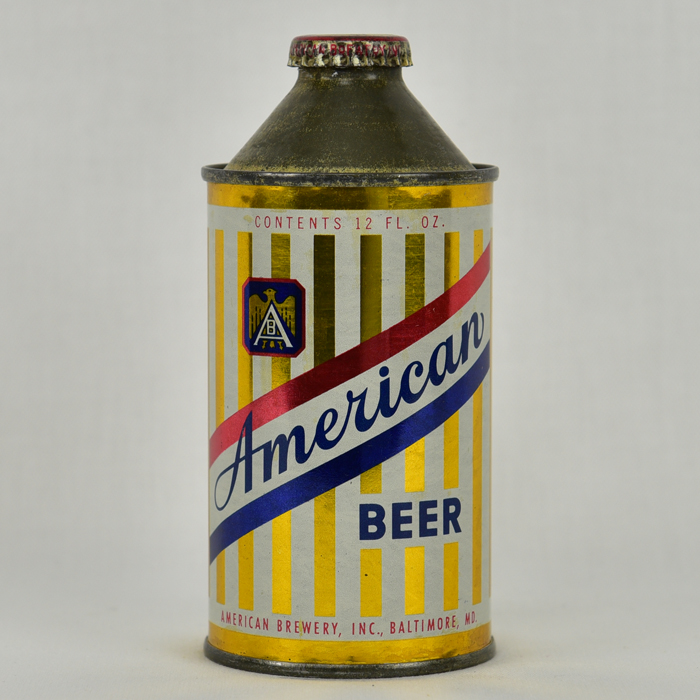 Lot Detail - American Beer High Profile Cone Top Can