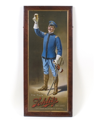 Schlitz Beer Army Calvary Officer Tin Sign