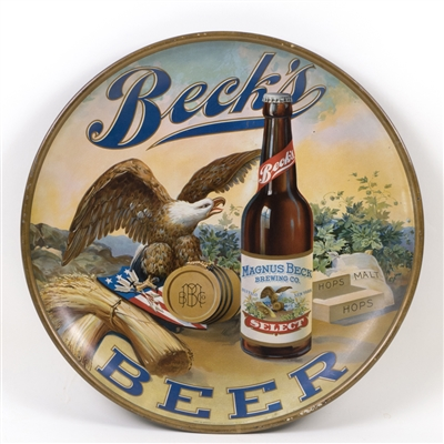 Magnus Becks Beer Eagle Bottle Patriotic Charger