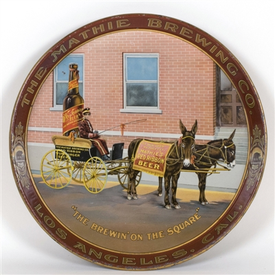 Mathie Brewing Donkey Drawn Beer Wagon Tray