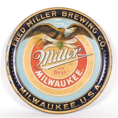 Fred Miller Eagle Milwaukee Beer Tray