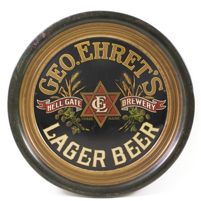 Geo. Ehrets Lager Beer Embossed Charger