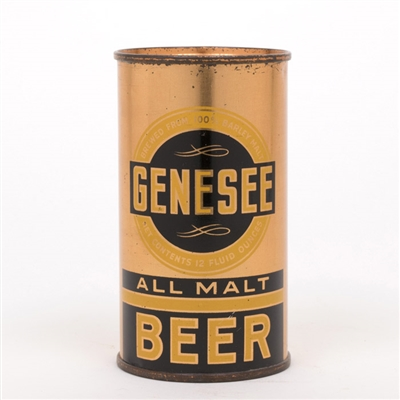 Geneseee All Malt Beer Instructional Flat Top Can