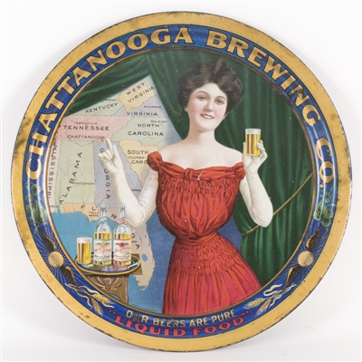 Chattanooga Brewing Southern States Advertising Tray