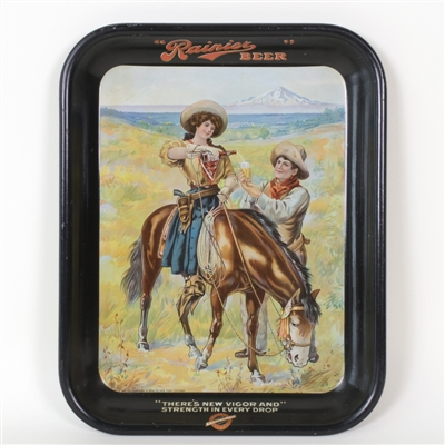Rainier Cowgirl Serving Cowboy Western Tray