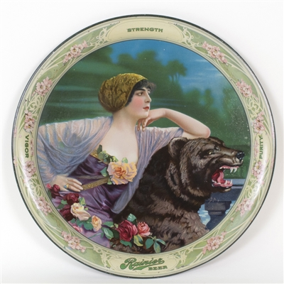 Rainier Lady and Bear Serving Tray