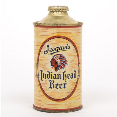 Iroquois Indian Head Beer Cone Top Can