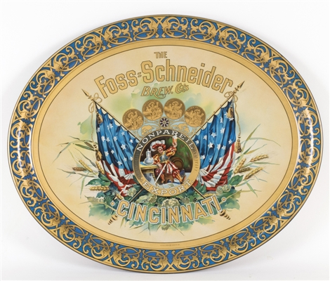 Foss-Schneider Cincinnati Patriotic Adevertising Tray