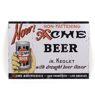 Acme Beer Tin Sign