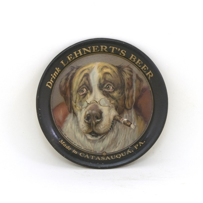 Lehnerts Beer Smoking Dog Tip Tray