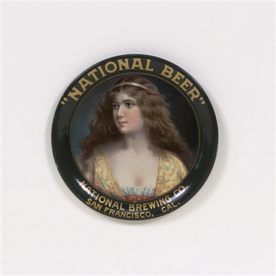 National Beer San Francisco Victorian Lady Tip Tray