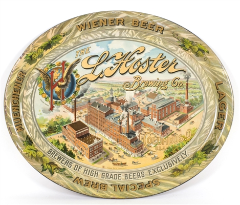 L. Hoster Brewing Factory Scene Tray
