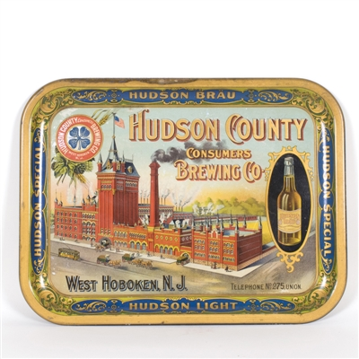 Hudson County Cusmers Brewing Factory Bottle Scene Tray