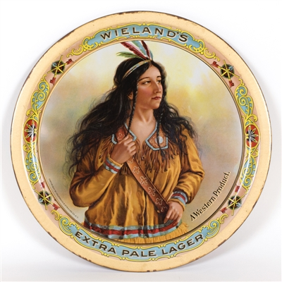 Wielands Native American Woman Beer Tray
