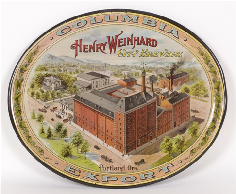 Henry Weinhard City Brewery Factory Scene Tray