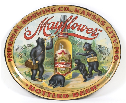 Mayflower Bottled Beer Imperial Brewing Bears Tray