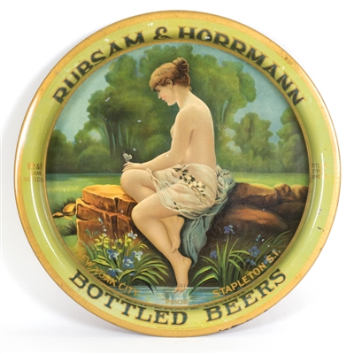 Rubsam Horrmann Bottled Beer Nude Lady Tray