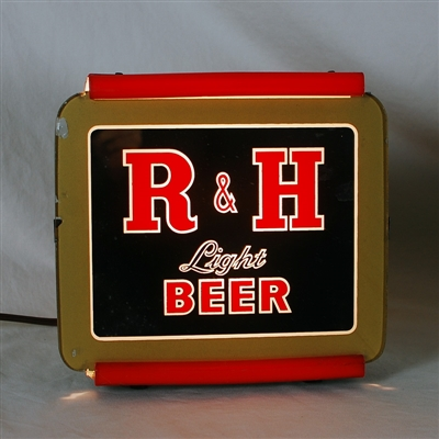 R&H Light Beer Back Bar Lighted Sign