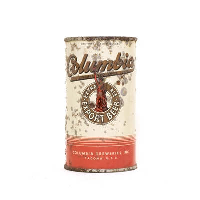 Columbia Export Beer Can 184