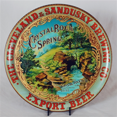Crystal Rock Spring Advertising Tin Tray