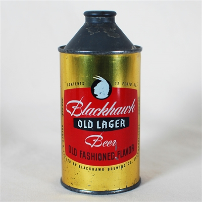 Blackhawk Old Lager Cone Top Can 153-1