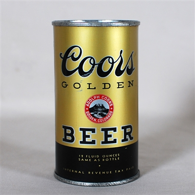 Coors Golden Beer Flat Top 51-17