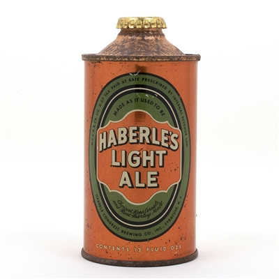 Haberles Light Ale Cone Top Beer Can