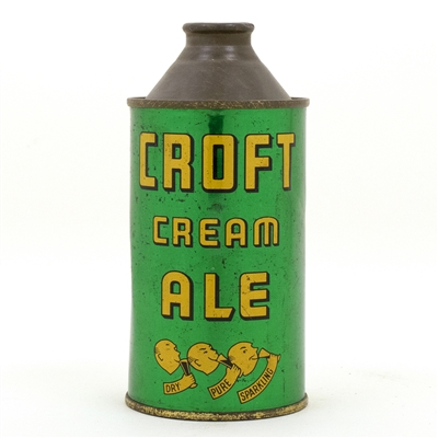 Croft Cream Ale Lemonheads Cone Top Beer Can