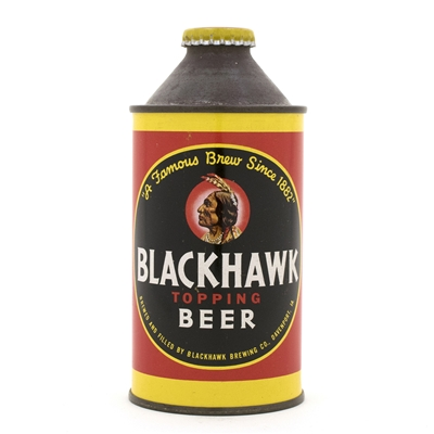 Blackhawk Topping High Profile Cone Top Beer Can