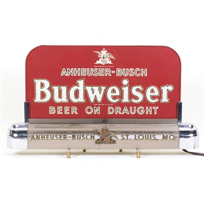 Budweiser Draught Beer RPG Lighted Back Bar Sign