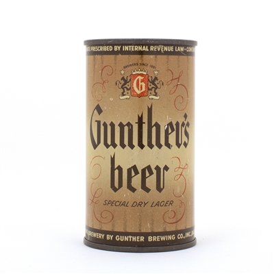 Gunthers Beer Split r Flat Top Can