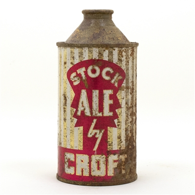 Stock Ale by Croft Cone Top Beer Can
