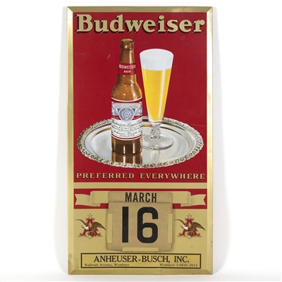 Budweiser Beer TOC Calendar Sign