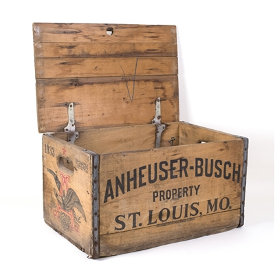Budweiser Beer Wooden Bottle Crate