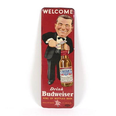 Budweiser Beer Tin Door Push Sign