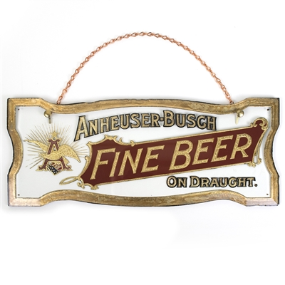 Anheuser-Busch Fine Beer On Draught Pre-Proh Sign