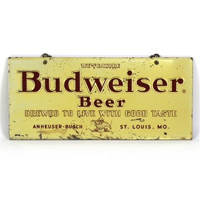 Budweiser Beer Reverse Painted Mirrored Sign
