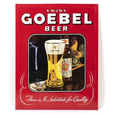 Goebel Beer Bottle Glass TOC Sign