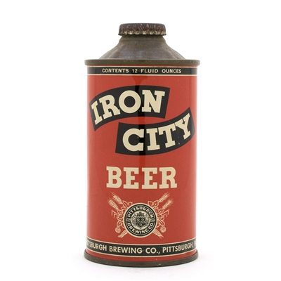 Iron City Beer Low Profile Cone Top Beer Can