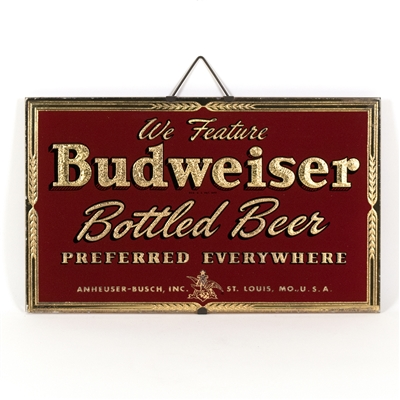 Budweiser Bottled Beer RPG Sign
