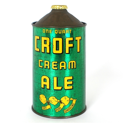 Croft Cream Ale Quart Cone Top Beer Can
