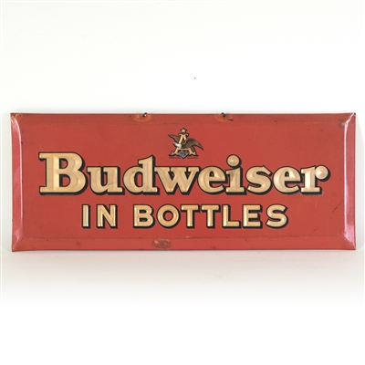 Budweiser Beer In Bottles Tin-Over-Cardboard Sign